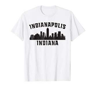 Indianapolis Indiana T-Shirt With Skyline Design