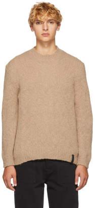 Kenzo Tan Alpaca Crewneck Sweater