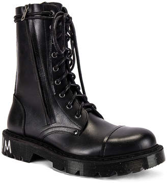 Vetements Dominium In Rectum Army Boots in Black | FWRD