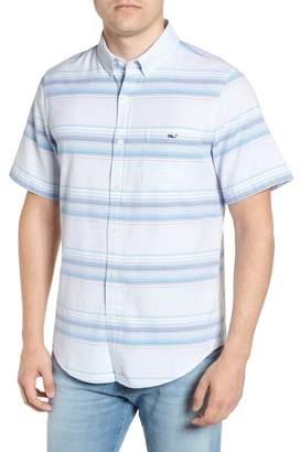 Vineyard Vines Sand Piper Tucker Regular Fit Stripe Oxford Sport Shirt