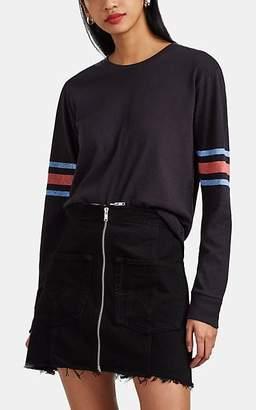 RE/DONE Women's Logo Cotton Long-Sleeve T-Shirt - Black