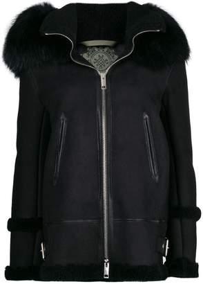 Mr & Mrs Italy fur hood shearling jacket
