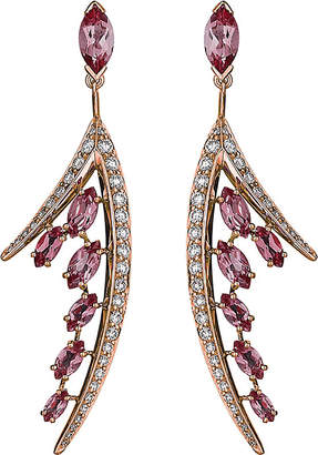 Shaun Leane Aerial 18ct rose gold and diamond earrings