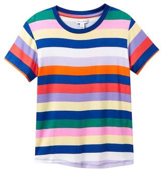 Love, Fire Rainbow Stripe Tee (Big Girls)