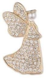 Anne Klein Boxed Crystal Faux Pearl Brooch