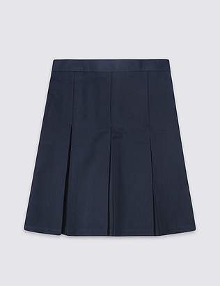 Marks and Spencer Girls' Plus Fit Skirt with Permanent Pleats
