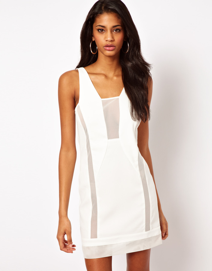 Asos Shift Dress with Sheer Panels