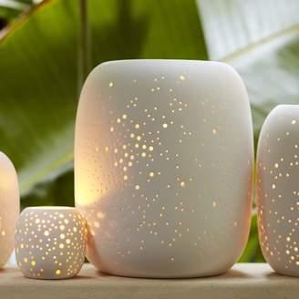 west elm Pierced Porcelain Hurricanes + Vases - Constellation