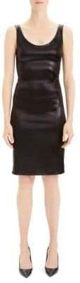 Theory Vegan Leather Sheath Dress