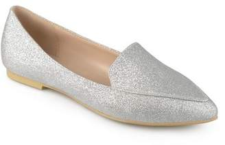 Co Brinley Women's Pointed Toe Faux Suede Loafer Flats
