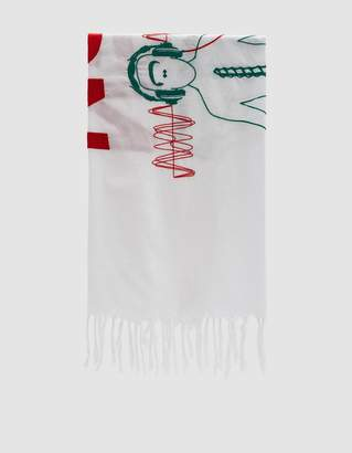 """Undercover Spiritual Noise"""" Scarf in Off White"""