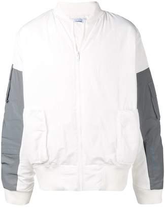 C2h4 contrast sleeve bomber jacket