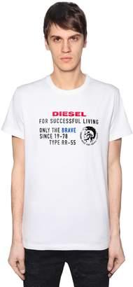 Diesel Archive Logo Cotton Jersey T-Shirt