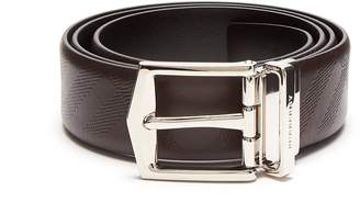 Burberry Embossed reversible leather belt