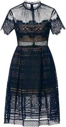 Self Portrait Felicia Embroidered Sheer Lace Dress $530 thestylecure.com
