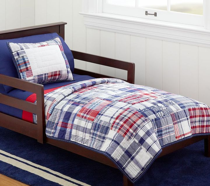 Pottery Barn Kids Madras Nursery Toddler Quilted Bedding