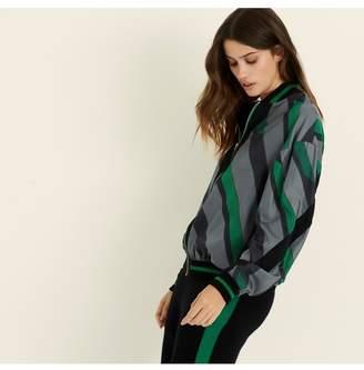 Amanda Wakeley Emerald Stripe Bomber Jacket