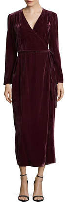 WAYF Gwyneth Wrap Velvet Dress