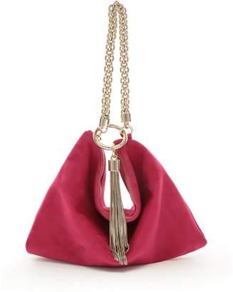 688a00e1068 Jimmy Choo CALLIE Raspberry Suede Clutch Bag