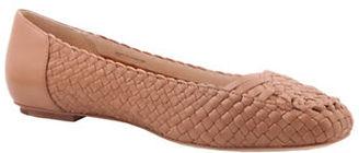 Delman Frani Basket Weave Leather Ballet Flats $298 thestylecure.com