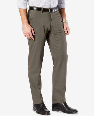Dockers New Mens' Signature Lux Cotton Straight Fit Stretch Khaki Pants