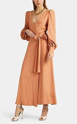 Françoise Women's Crepe Wrap Dress - Lt. brown