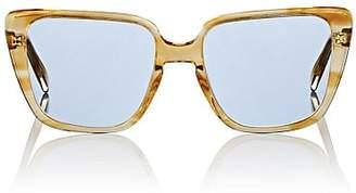Celine Women's Oversized Square Cat-Eye Sunglasses - Yellow