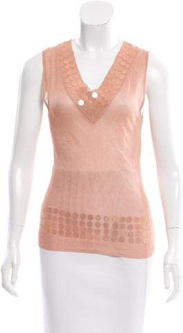 Christian Dior Embellished Knit Top