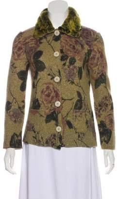 Etro Wool Floral Cardigan