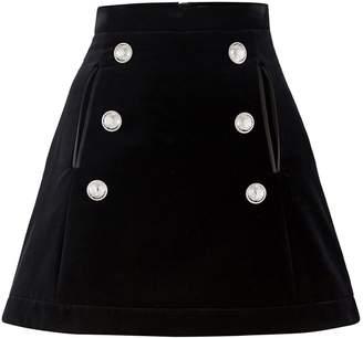 Balmain 6 button skirt