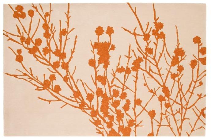 IndiB - Branches Orange Rug