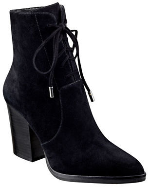 Marc Fisher Ltd Aaliyah Suede Booties $210 thestylecure.com