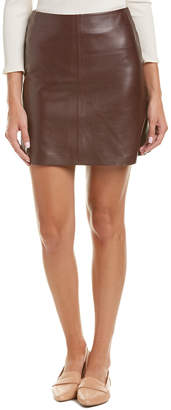 Theory Irenah L.Wilmore Leather Mini Skirt