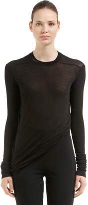 Rick Owens Drkshdw Jersey Long Sleeve T-Shirt