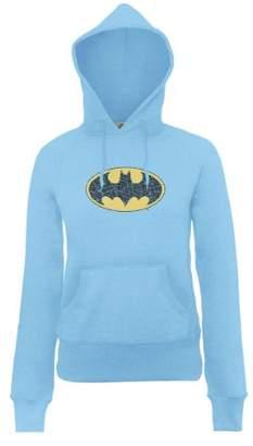 DC Comics Women's Official Batman Gloss Logo Long Sleeve Hoodie,(Manufacturer Size:XX-Large)