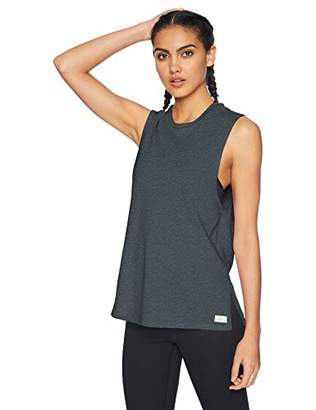 Core 10 Amazon Brand Women's Relaxed Fit Plus Size Cotton Blend Gym Muscle Sleeveless Tank