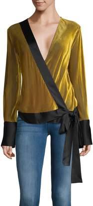 Diane von Furstenberg Long-Sleeve Self-Tie Blouse