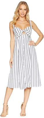 Splendid Tie Front Midi Dress Women's Dress
