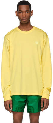 Acne Studios Yellow Elwood Face Long Sleeve T-Shirt