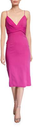 Jay Godfrey V-Neck Sleeveless Wrap-Front Sheath Dress
