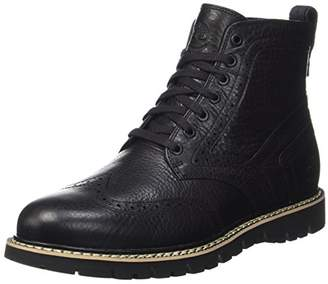 Timberland Men's Britton Hill Fleece Wing Tip Waterproof Boot, (Jet Black)