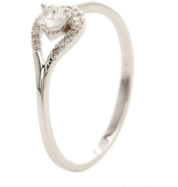 Paris Vendôme Attrape Coeur - Ring aus Weißgold und Diamanten - silberfarben