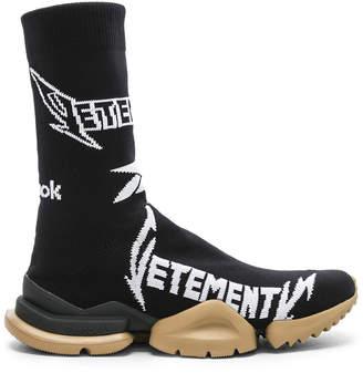 Vetements x Reebok Metal Sock Boots in Black & White | FWRD