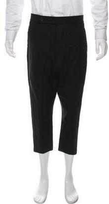 Rick Owens Cropped Tuxedo Pants