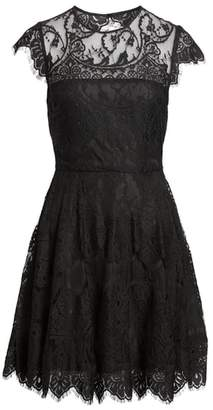 BB Dakota 'Rhianna' Illusion Yoke Lace Fit & Flare Dress
