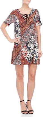 BCBGeneration Lace-up Short Sleeve Dress
