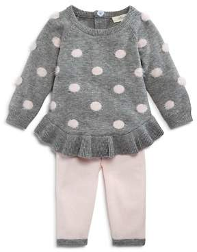 Miniclasix Girls' Dotted Sweater Top & Leggings Set - Baby