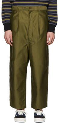 Comme des Garcons Homme Homme Khaki Moleskin Trousers