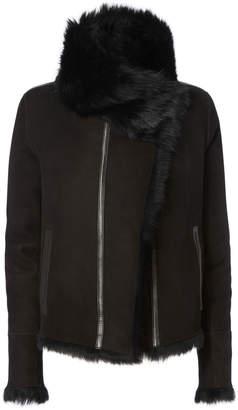 Yves Salomon Reversible Black Shearling Coat