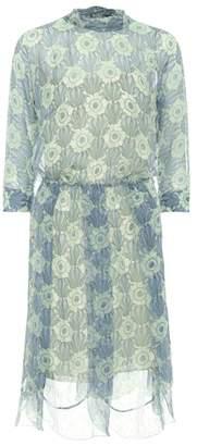 Prada Floral printed silk chiffon dress